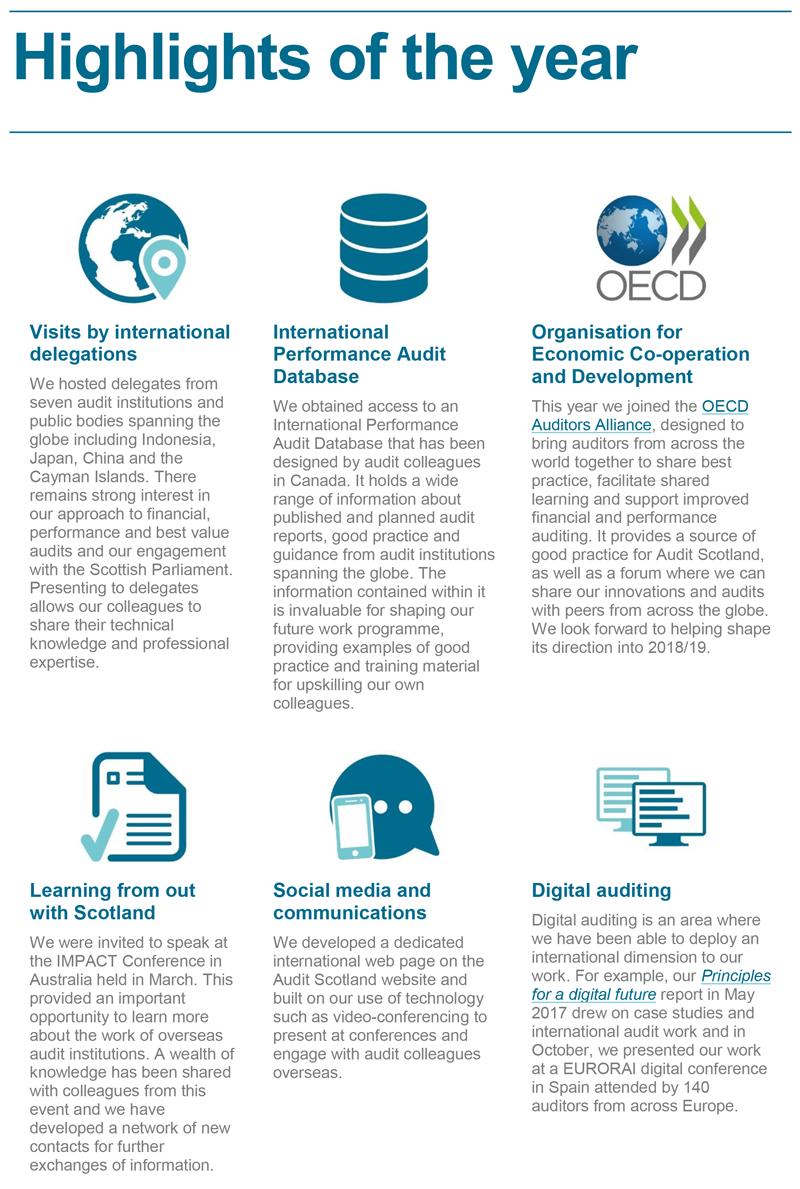 International work annual report 2017/18   Audit Scotland