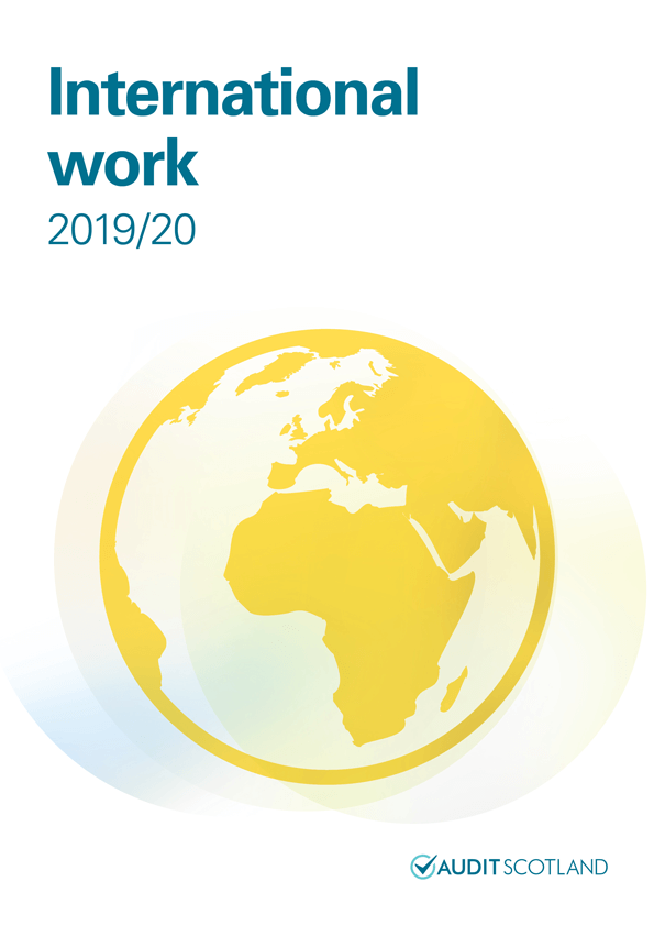 Report cover: International work 2019/20
