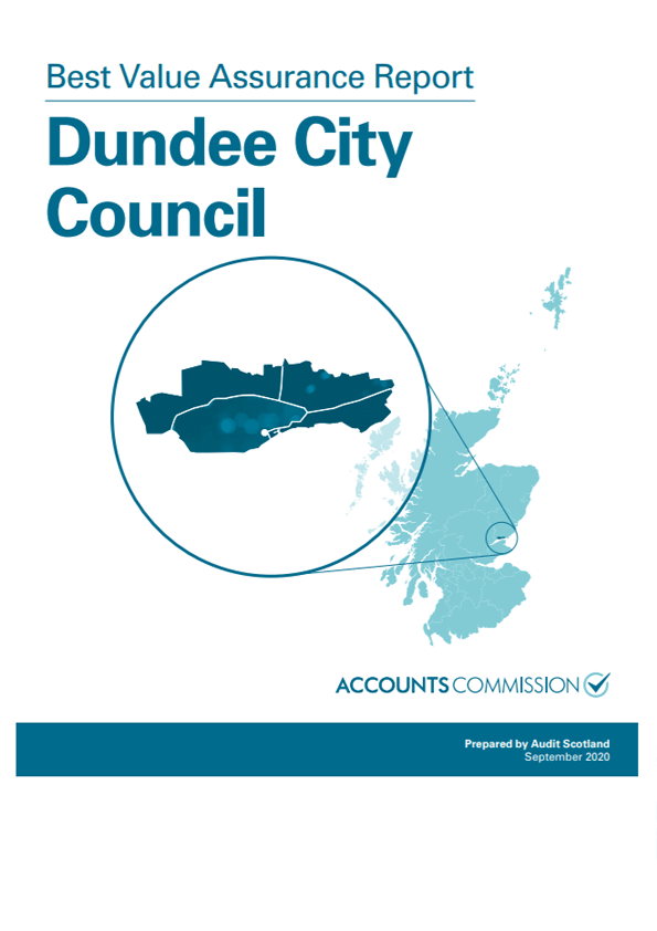 Report cover: Best Value Assurance Report: Dundee City Council