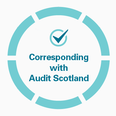 corresponding with Audit Scotland