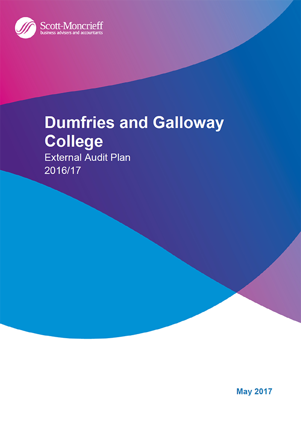 Report cover: Dumfries and Galloway College annual audit plan 2016/17