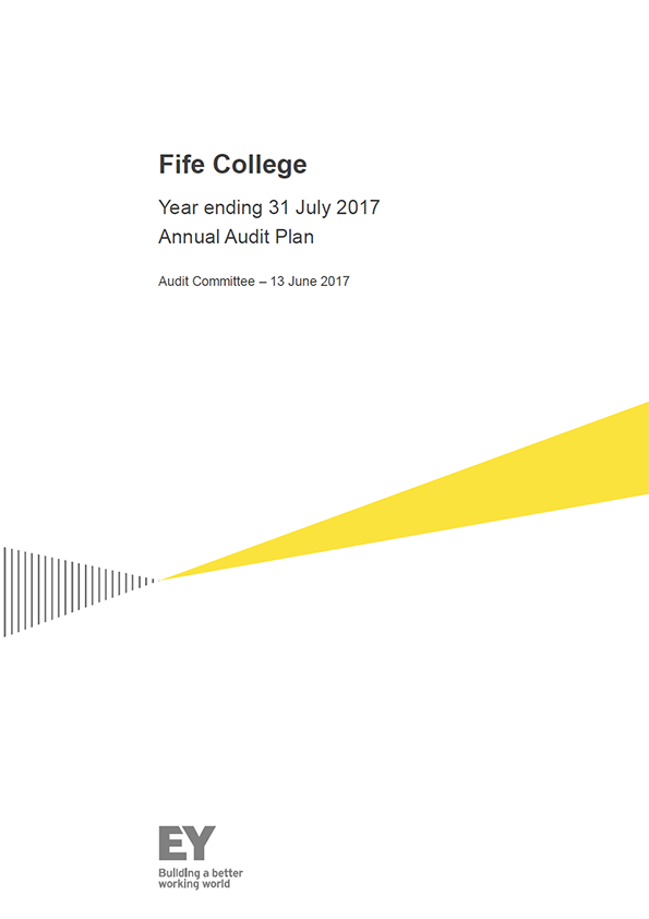 Report cover: Fife College annual audit plan 2016/17