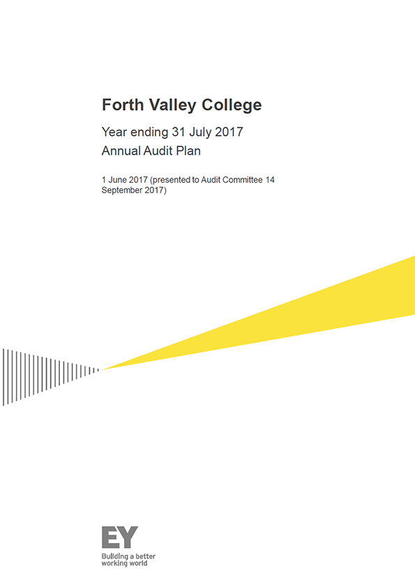 Report cover: Forth Valley College annual audit plan 2016/17