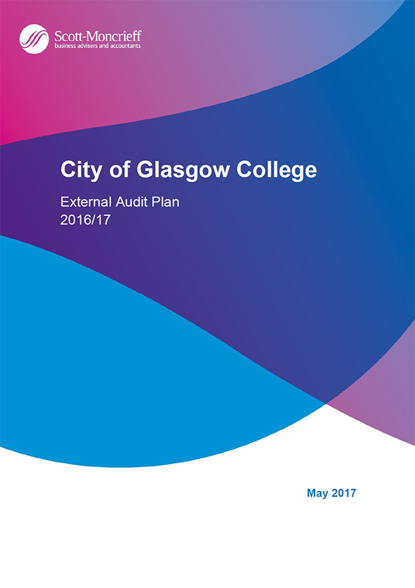 Report cover: City of Glasgow College annual audit plan 2016/17