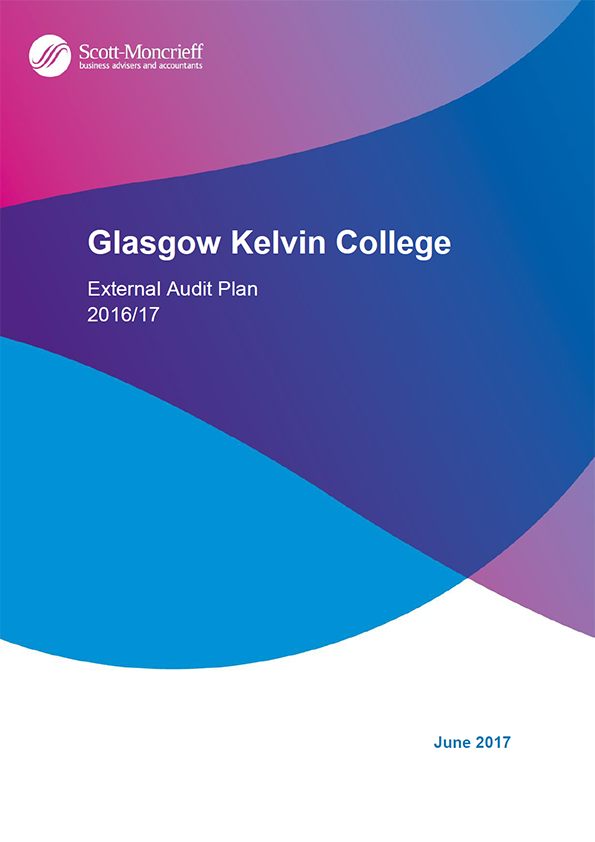 Report cover: Glasgow Kelvin College annual audit plan 2016/17