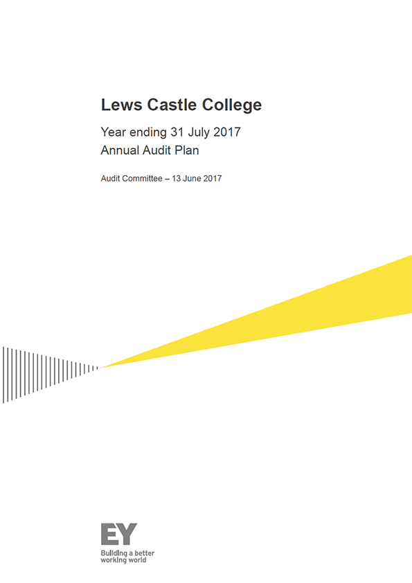 Report cover: Lews Castle College annual audit plan 2016/17