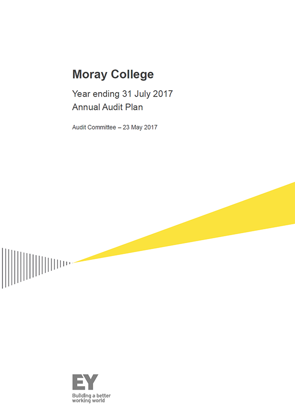 Report cover: Moray College annual audit plan 2016/17