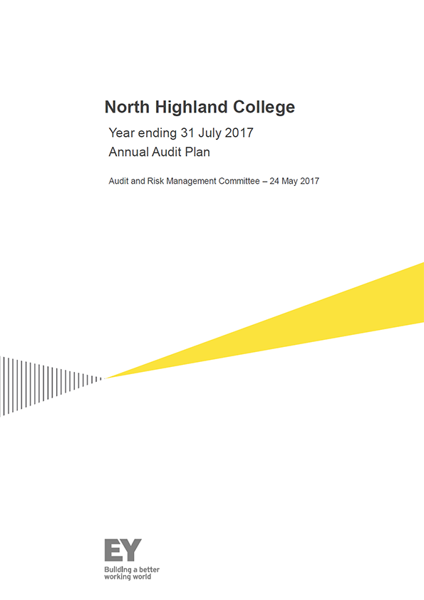 Report cover: North Highland College annual audit plan 2016/17