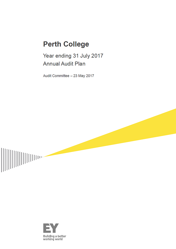 Report cover: Perth College annual audit plan 2016/17