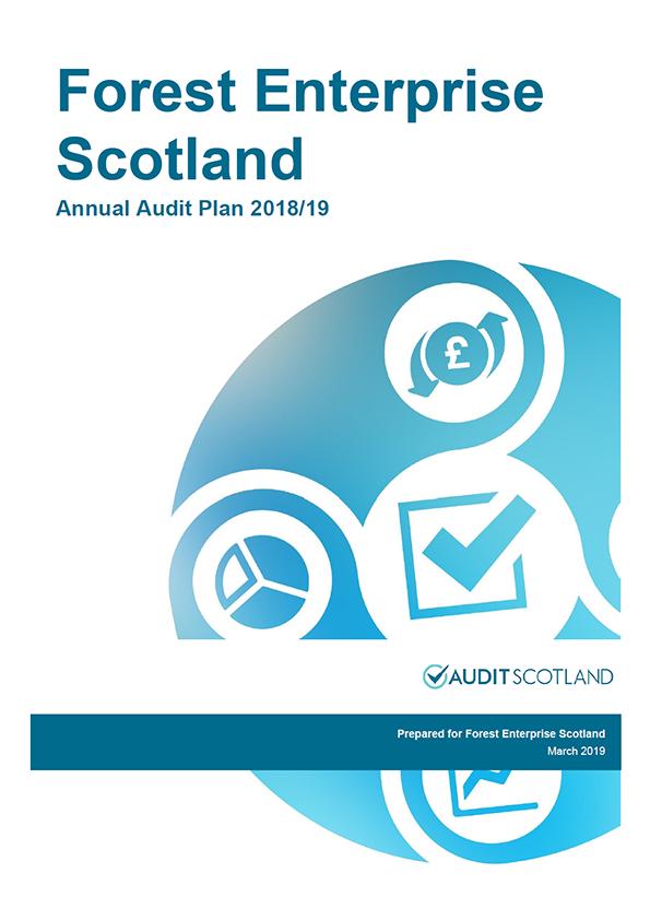 Report cover: Forest Enterprise Scotland annual audit plan 2018/19