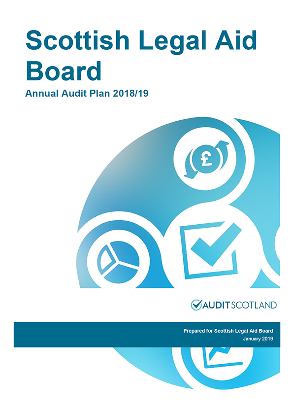 Report cover: Scottish Legal Aid Board annual audit plan 2018/19