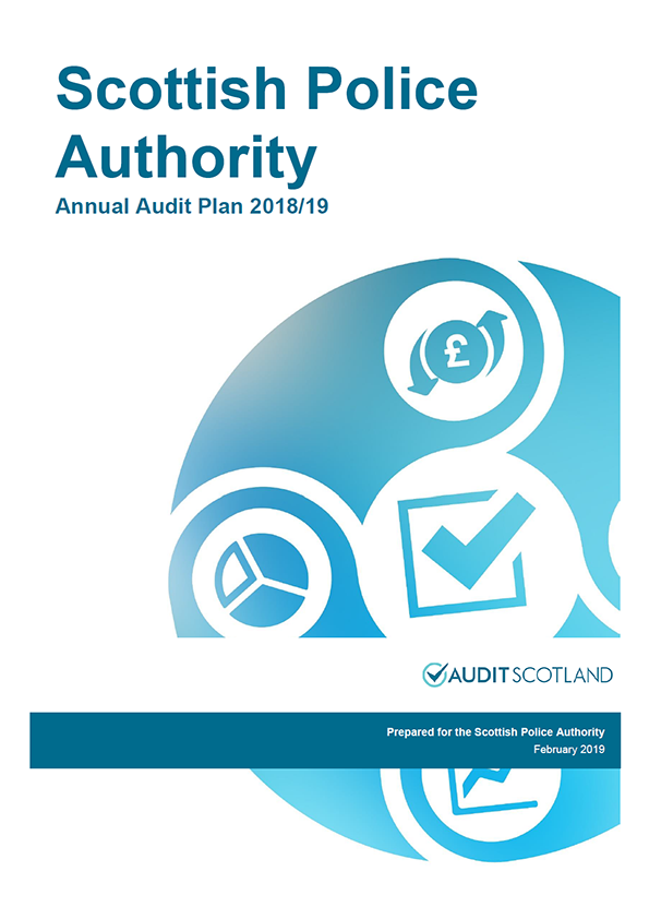 Report cover: Scottish Police Authority annual audit plan 2018/19