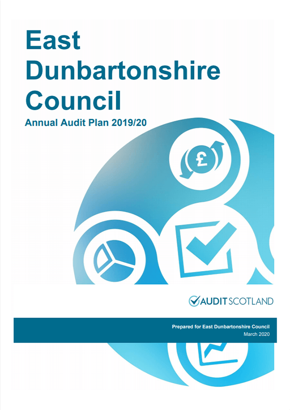 Report cover: East Dunbartonshire annual audit 2019/20
