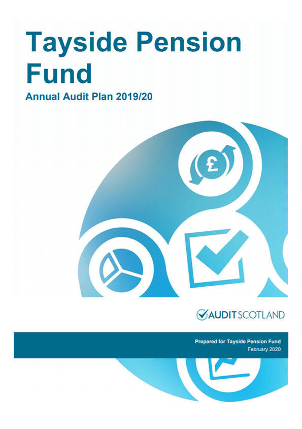 Report cover: Tayside Pension Fund annual audit plan 2019/20