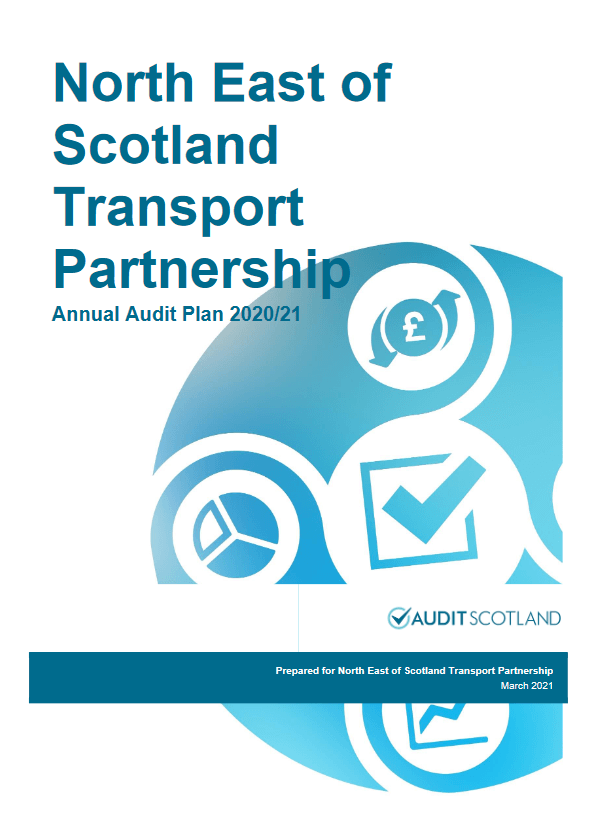 Report cover: North East of Scotland Transport Partnership annual audit plan 2020/21
