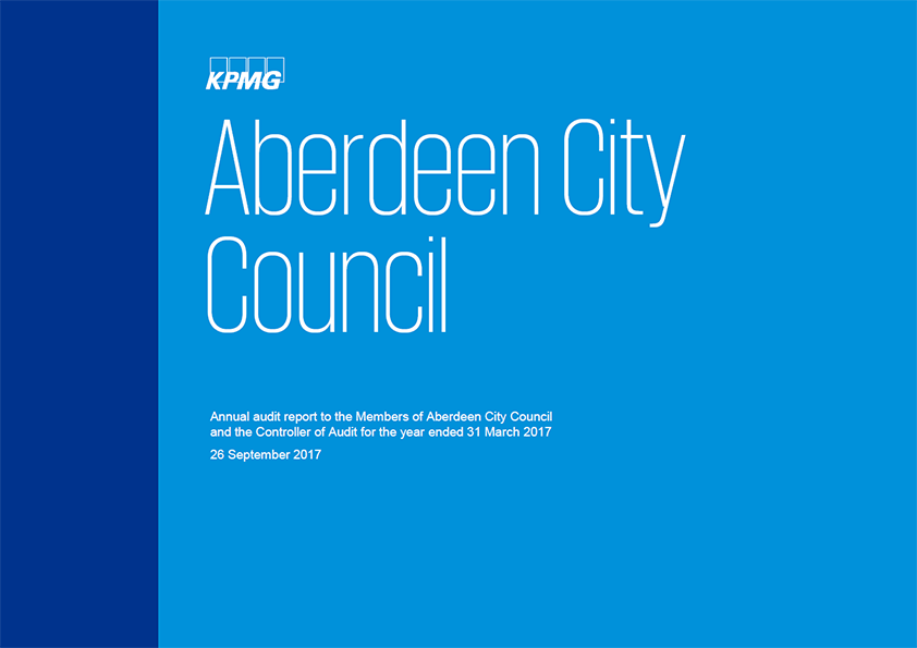 Report cover: Aberdeen City Council annual audit report 2016/17