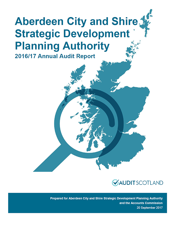 Report cover: Aberdeen City and Shire Strategic Development Planning Authority annual audit report 2016/17