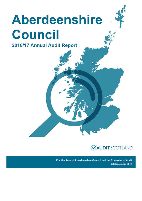 Report cover: Aberdeenshire Council annual audit report 2016/17