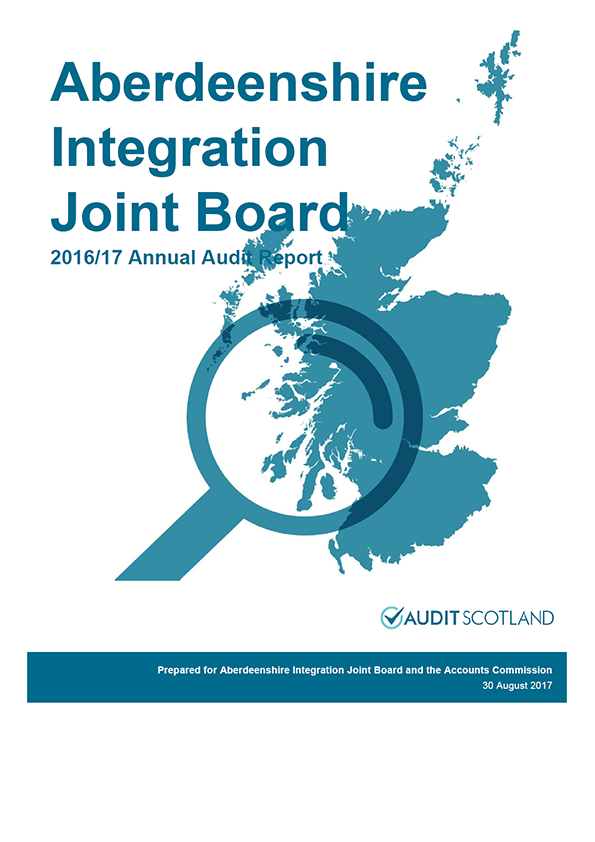 Report cover: Aberdeenshire Integration Joint Board annual audit report 2016/17