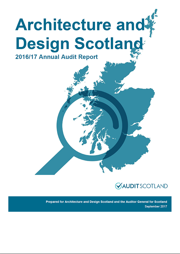 Report cover: Architecture and Design Scotland annual audit report 2016/17
