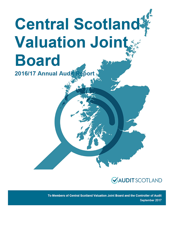 Report cover: Central Scotland Valuation Joint Board  annual audit report 2016/17