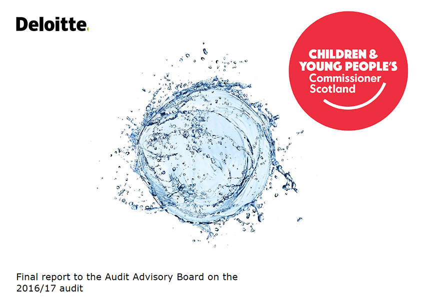 Report cover: Children and Young People's Commissioner Scotland annual audit report 2016/17