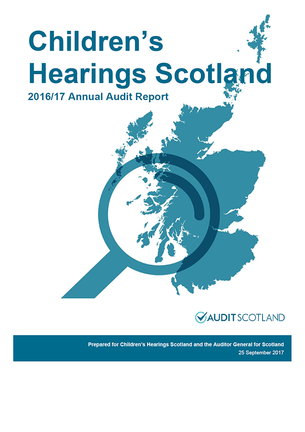 Report cover: Children's Hearings Scotland annual audit report 2016/17
