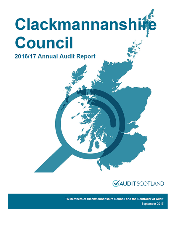 Report cover: Clackmannanshire Council annual audit report 2016/17