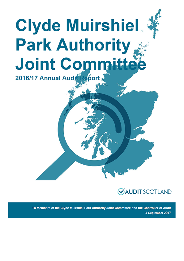Report cover: Clyde Muirshiel Park Authority annual audit report 2016/17