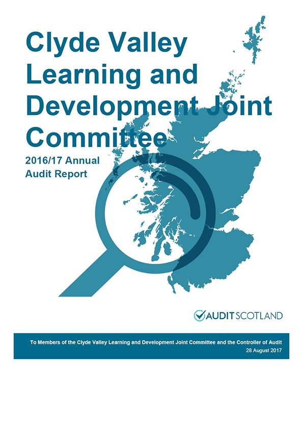 Report cover: Clyde Valley Learning and Development Joint Committee annual audit report 2016/17