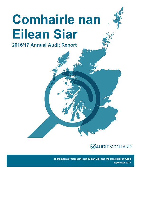 Report cover: Comhairle nan Eilean Siar annual audit report 2016/17
