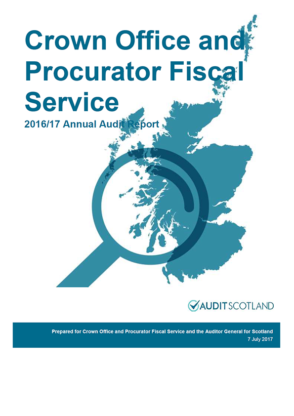 Report cover: Crown Office and Procurator Fiscal Service annual audit report 2016/17