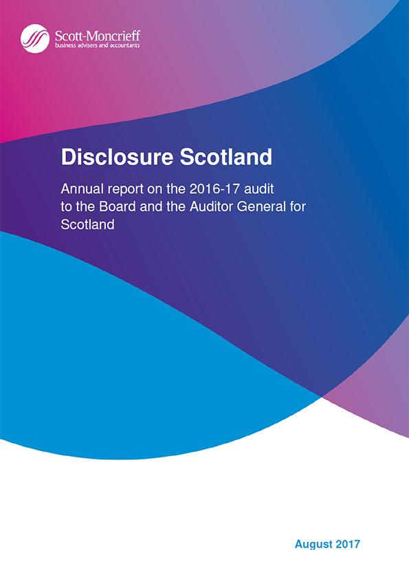 Report cover: Disclosure Scotland annual audit report 2016/17