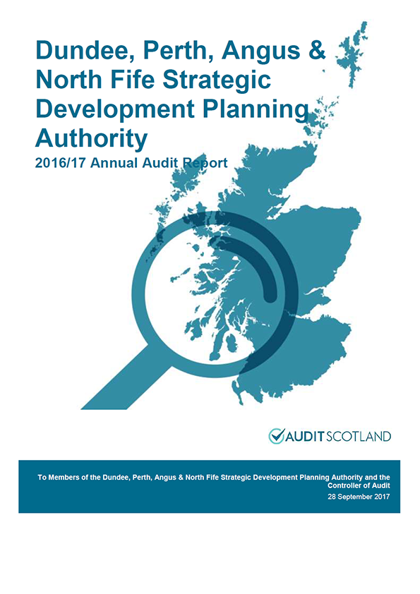 Report cover: Dundee, Perth, Angus and North Fife Strategic Development Planning Authority annual audit report 2016/17