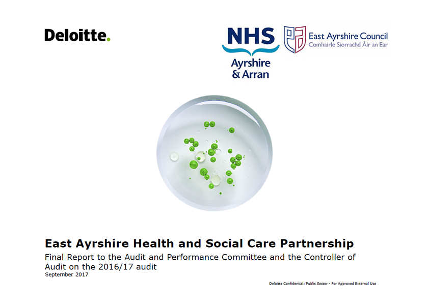 Report cover: East Ayrshire Health and Social Care Partnership annual audit report 2016/17