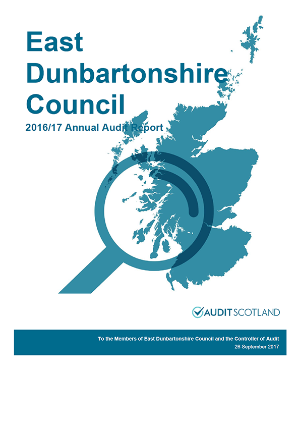 Report cover: East Dunbartonshire Council annual audit report 2016/17