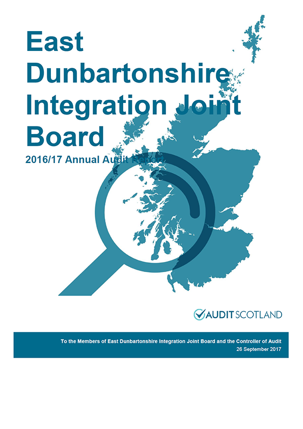 Report cover: East Dunbartonshire Integration Joint Board annual audit report 2016/17