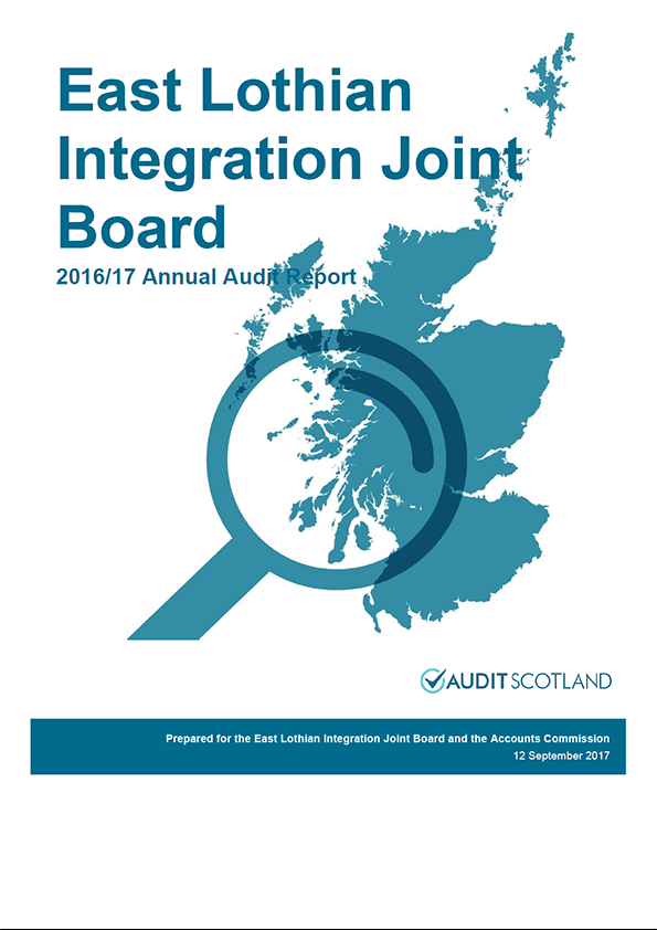 Report cover: East Lothian Integration Joint Board annual audit report 2016/17