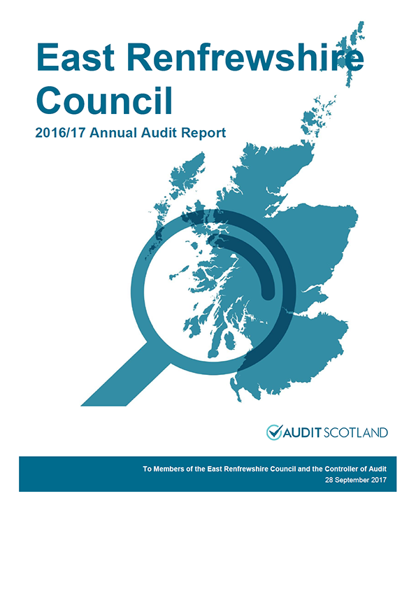 Report cover: East Renfrewshire Council annual audit report 2016/17