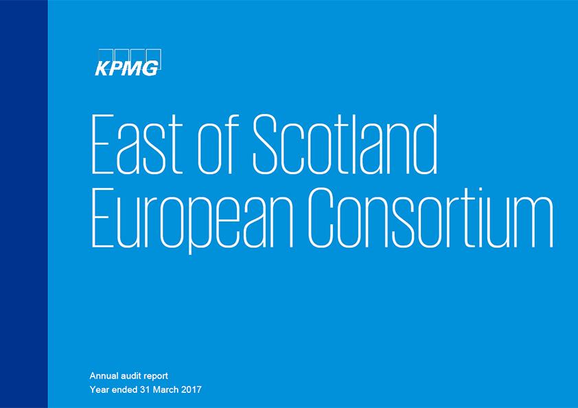 Report cover: East of Scotland European Consortium annual audit report 2016/17