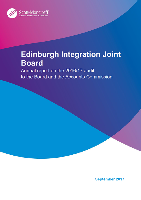 Report cover: Edinburgh Integration Joint Board annual audit report 2016/17