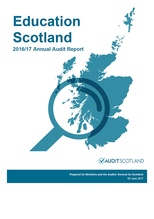 Report cover: Education Scotland annual audit report 2016/17