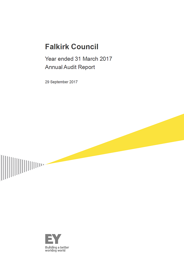 Report cover: Falkirk Council annual audit report 2016/17