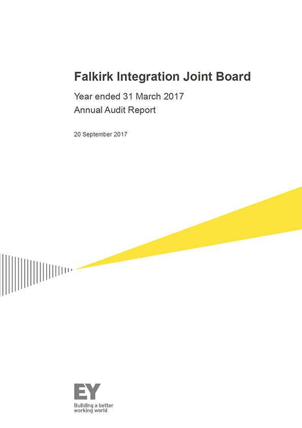 Report cover: Falkirk Integration Joint Board annual audit report 2016/17