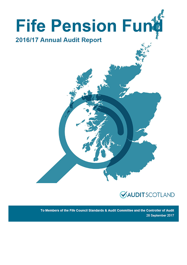 Report cover: Fife Pension Fund annual audit report 2016/17