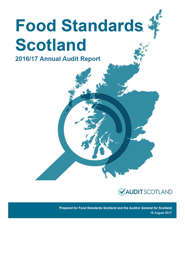 Report cover: Food Standards Scotland annual audit report 2016/17