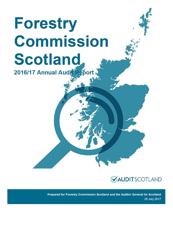 Report cover: Forestry Commission Scotland and Forest Enterprise Scotland annual audit reports 2016/17