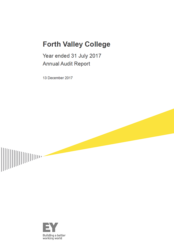 Report cover: Forth Valley College annual audit report 2016/17