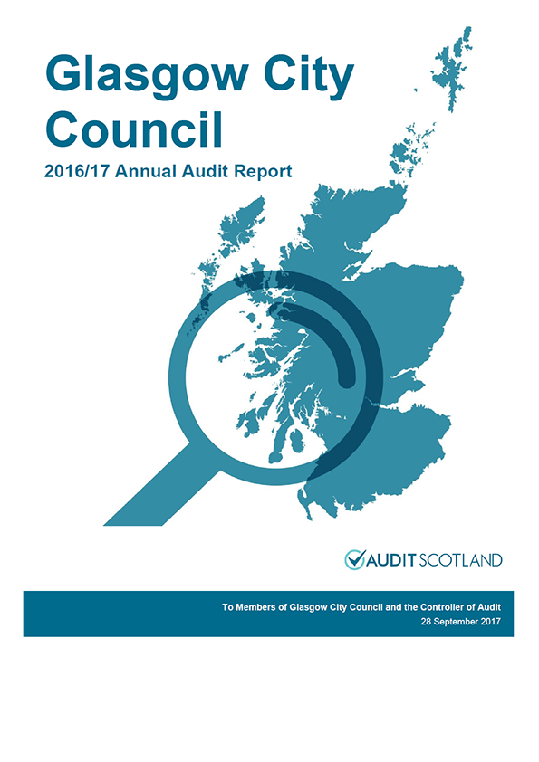Report cover: Glasgow City Council annual audit report 2016/17