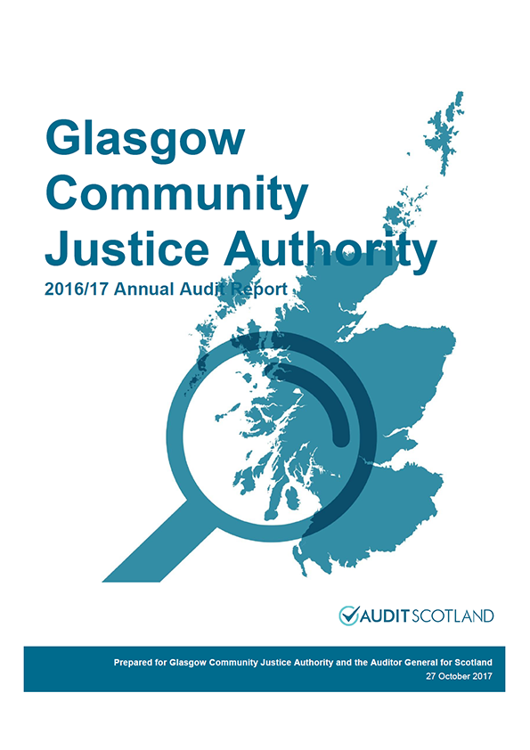 Report cover: Glasgow Community Justice Authority annual audit report 2016/17